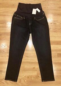 e2da0d1388899 Gap Maternity Full Panel 1969 Girlfriend Jeans Dark Wash Size 31 NWT ...