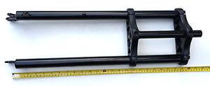 """New 26 x 4.0 Triple Tree Fat Sand Snow Bike Fork 1/"""" threadless w//Disc Tab Black"""