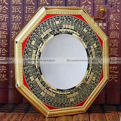 """5"""" Chinese Oriental Protection Feng Shui Home House Convex Bagua Mirror NEW"""
