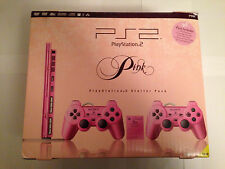 SONY PLAYSTATION 2 PS2 SLIMLINE  PINK CONSOLE LIMITED EDITION  - 2  PADS