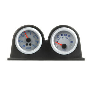 Double-Dual-Auto-Car-Gauge-Meter-Pod-Holder-Cup-Mount-2-034-52mm-F9N1