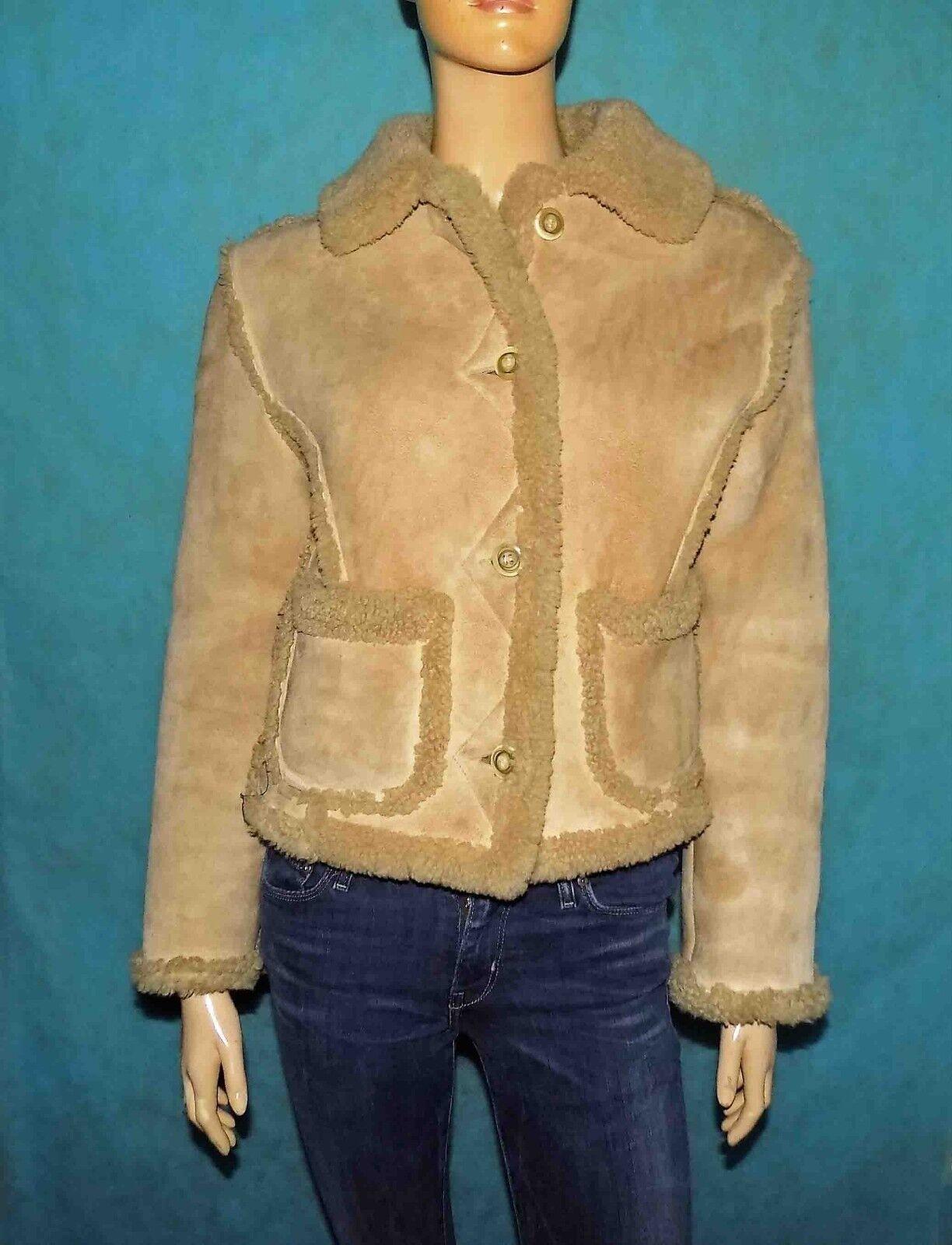Blouson CHEVIGNON girls en cuir mouton lainé size S ou 36 38