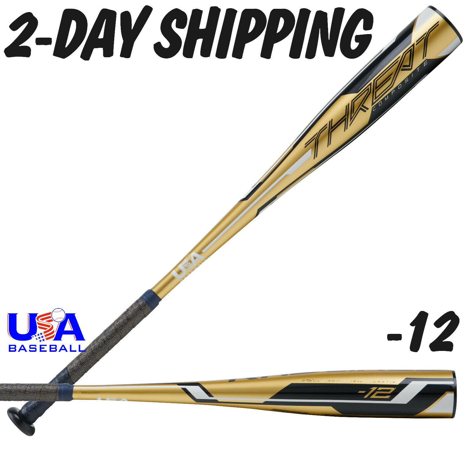 2020 Rawlings THREAT Youth USA 31  19 oz Composite 2-5 8  Bat USAT12  2-DAY SHIP