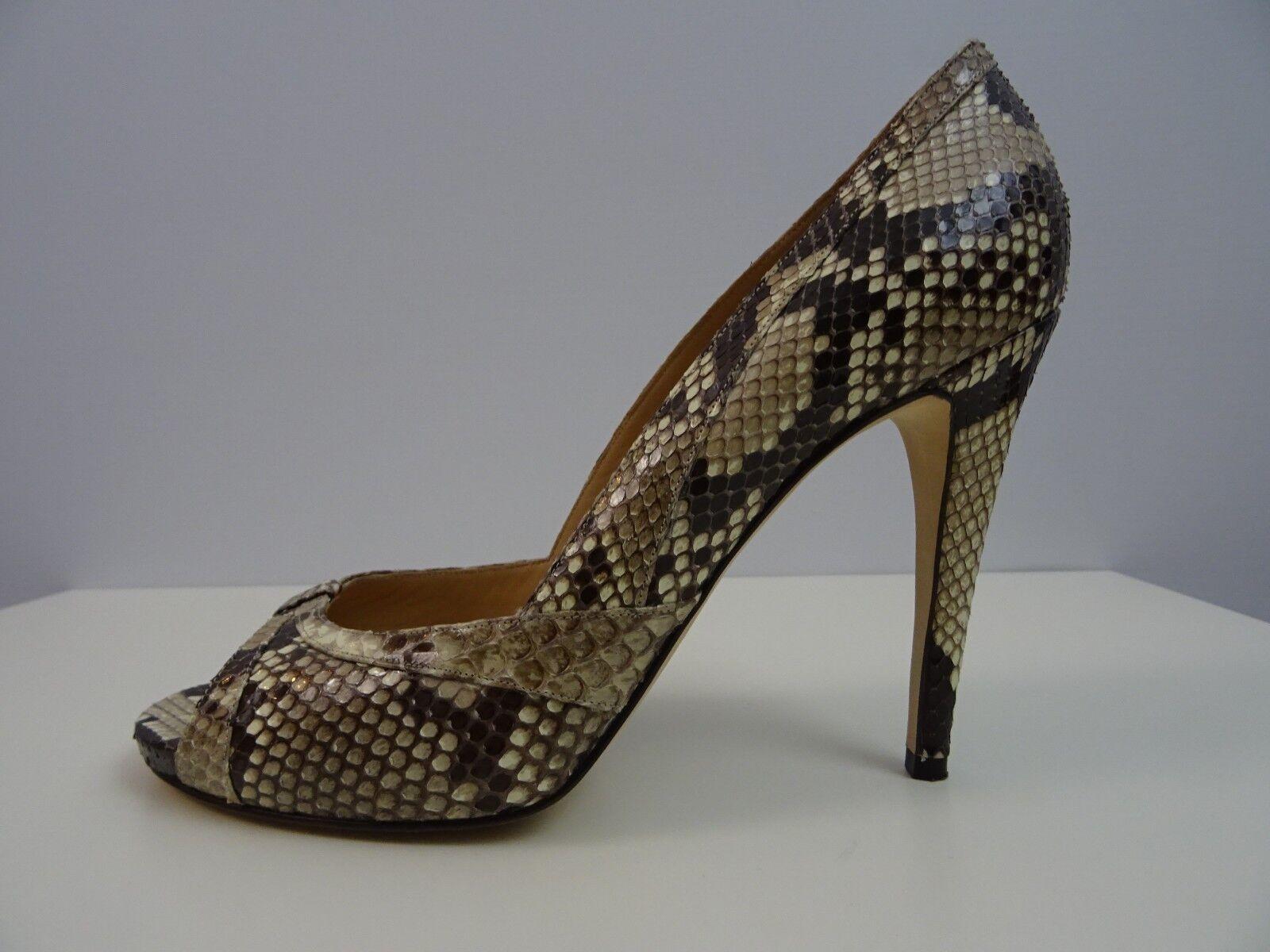 Unützer Damen Schuhes Schuhe Pumps Peep Toe Schuhes Damen High Heels Python 40 Handmade Wie neu f34eac