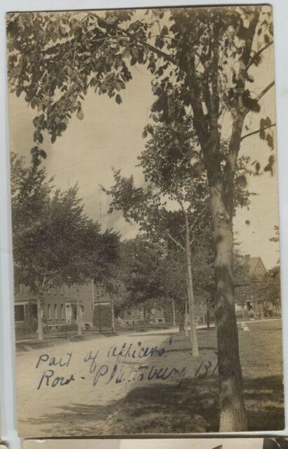 1910 era Plattsburgh New York NY Officers Row Real Photo Postcard RPPC