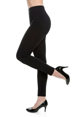WOMENS PLAIN STRETCHY FULL LENGTH LEGGINGS ELASTICATED WAIST SOFT FABRIC
