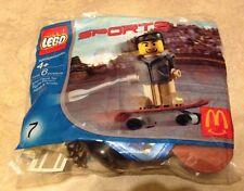 Lego Sports Skateboard Figure NEW Factory sealed Polybag Set McDonalds 2004