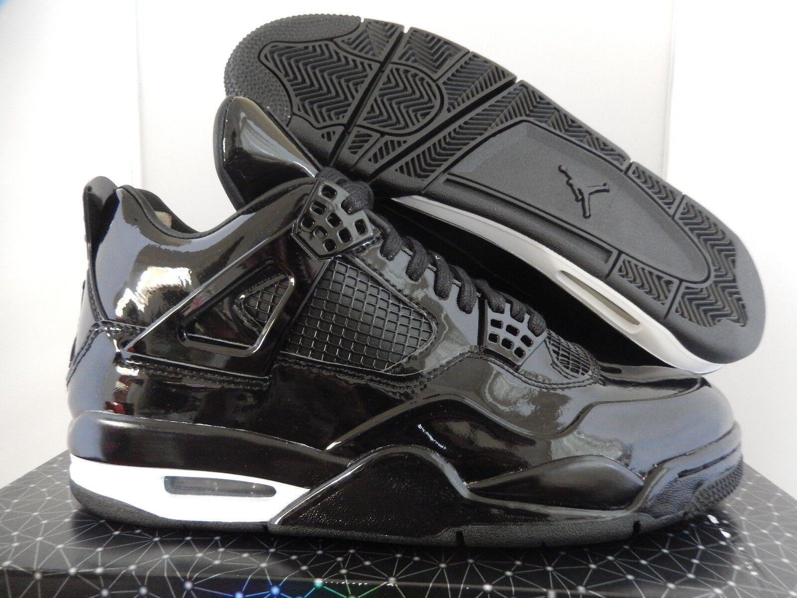 5439ba82d5e096 Nike Air Jordan Retro 4 11lab4 Black Patent Leather Shoes Mens Sz 10 ...