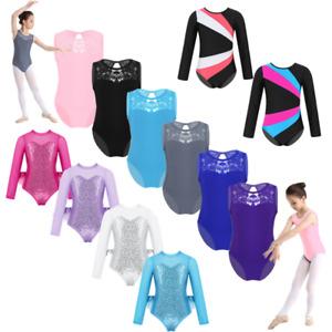 Kid-Girl-Gymnastics-Ballet-Dance-Leotard-Cutout-Back-Jumpsuits-Dancewear-Unitard