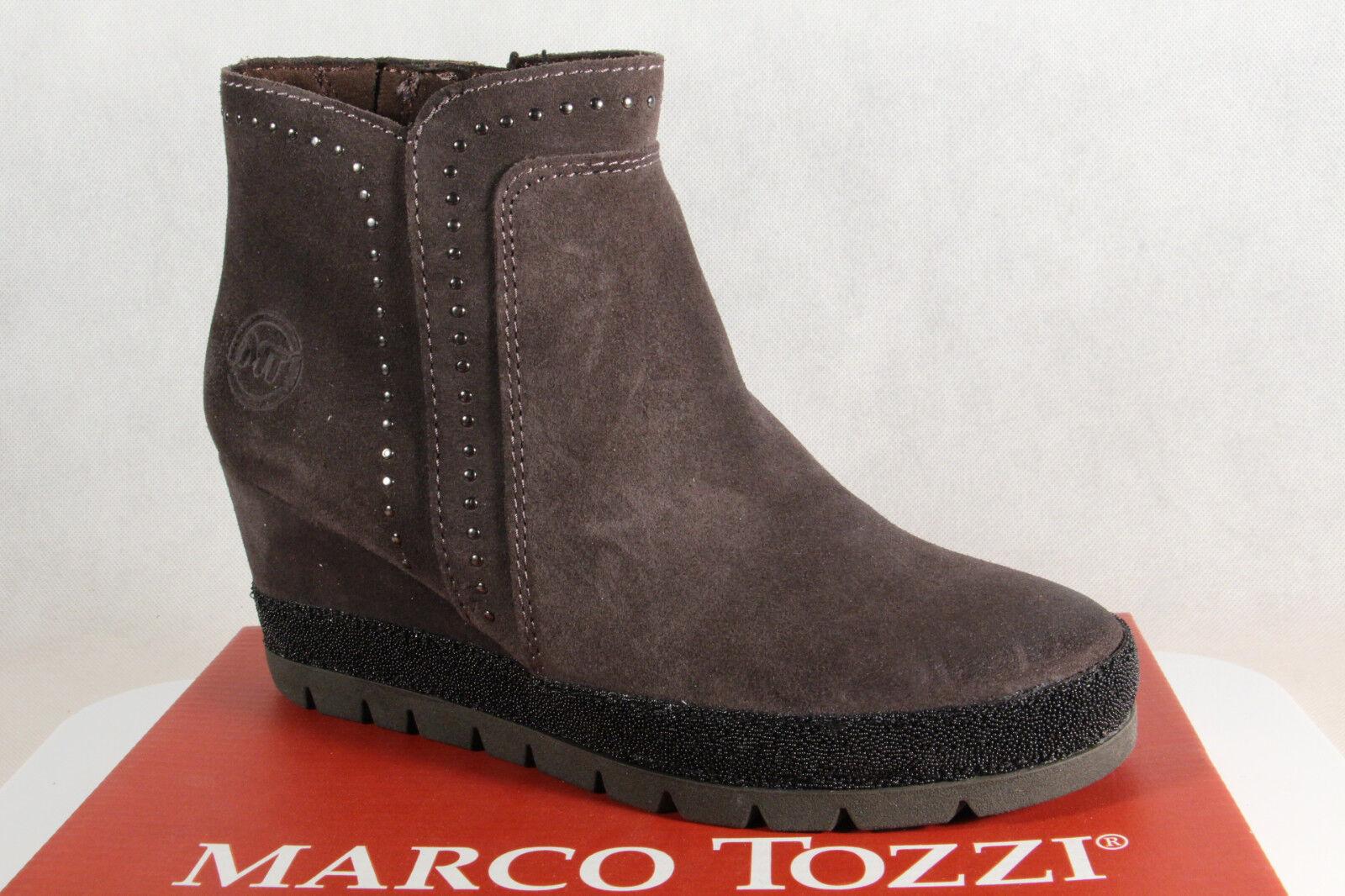 Marco Tozzi Stiefel, Echtleder Stiefelette Stiefeletten grau 25437 Echtleder Stiefel, NEU 76fea8