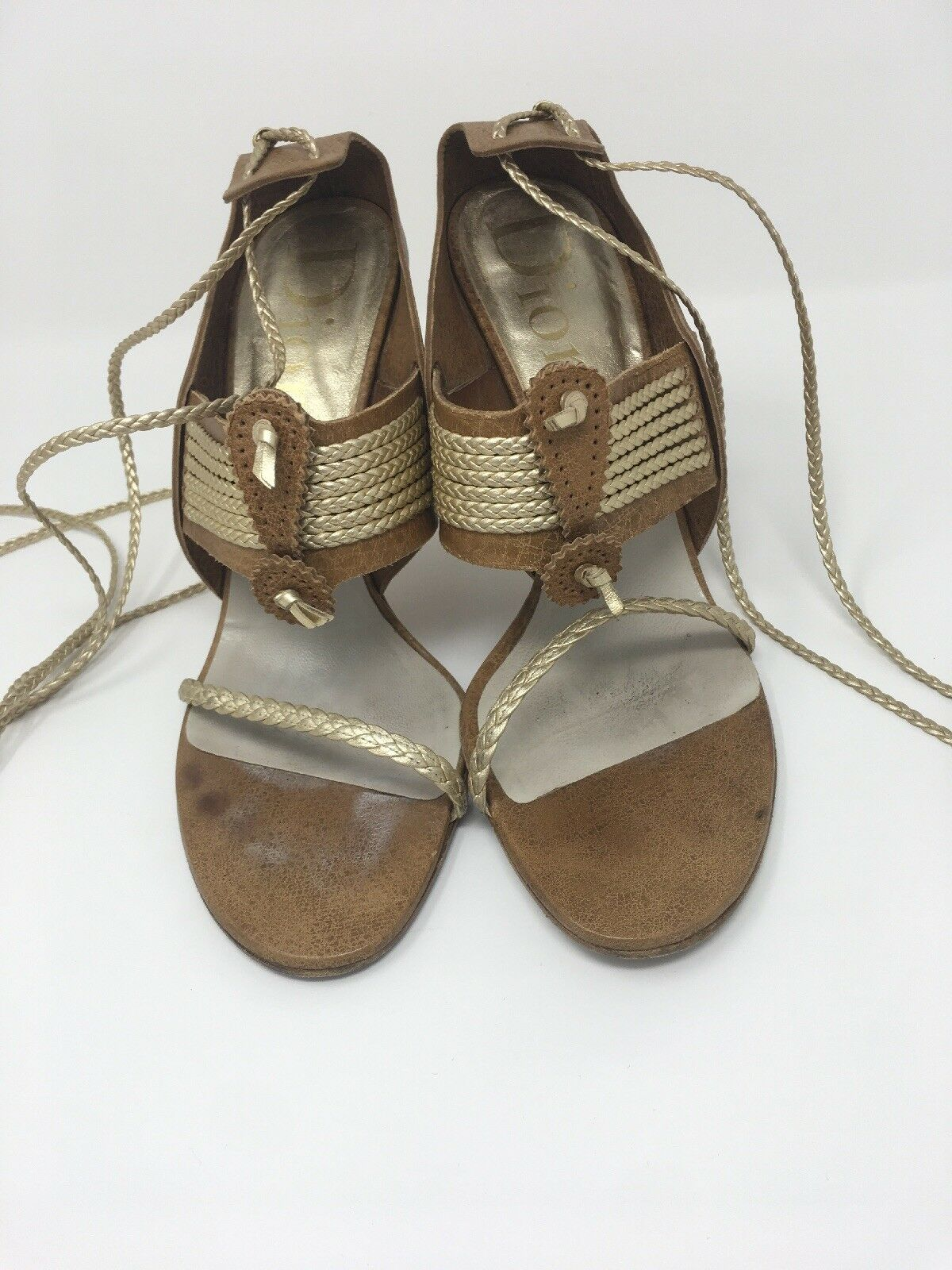 Dior shoes Camel And gold Size 39