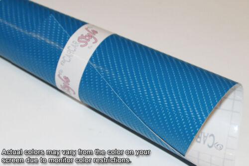 4D Carbone Fibre Vinyle Wrap Film Feuille Bleu 600mm 59,8 dans 23,6 dans X 1520mm