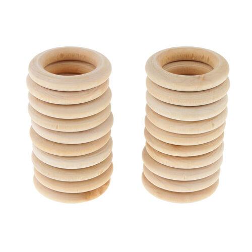 20 Stück natürliche Holz Holzringe Handwerk DIY Anhänger Steckverbinder