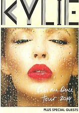 KYLIE MINOGUE 2014 Tour 2-sided  UK FLYER / mini Poster 8x6 inches on card