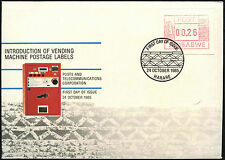 Zimbabwe 1985, 26c Frama Machine Label FDC First Day Cover #C42075