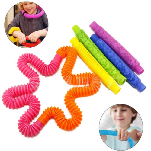 5Pcs Fidget Pop Tube Toys for Kids and Adults Pipe Sensory Tools for Stress