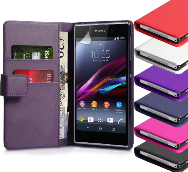 PU Leather Wallet Pouch Magnetic Flip Case Cover For Sony Xperia Z1 L39H
