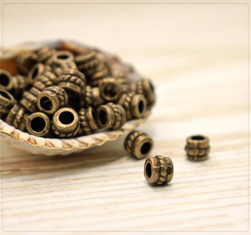 20 Antik Silber Spacer Perlen Zwischenteil für Schmuck DIY 28x18mm