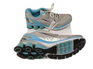 Nike-Shox-Turmoil-Womens-US-7-5-EUR-38-5-Silver-Blue-Running-Shoes-366647-003