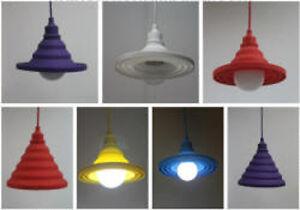 Lampadario lampada sospensione design moderno gomma colorato