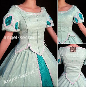 Image is loading P188-Ariel-costume-top-and-skirt-women-cosplay- & P188 Ariel costume top and skirt women cosplay princess little ...