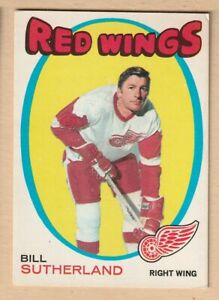 HOCKEY-CARD-NHL-1971-72-BILL-SUTHERLAND-DETROIT-RED-WINGS-OPC-141
