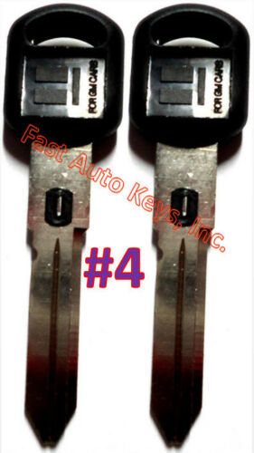 2 NEW GM Double Sided VATS Ignition Key #4 UNCUT V.A.T.S B82-P4 MADE IN USA