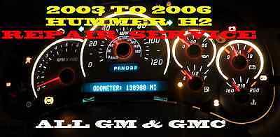 HUMMER H2 Instrument Cluster SPEEDOMETER REPAIR SERVICE 2003-2006 CHEVY GM GMC