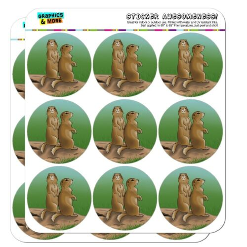 Pair of Prairie Dogs Planner Calendar Scrapbooking Crafting Stickers