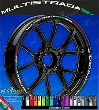 Set Adesivi Cerchi Moto Ruote DUCATI MULTISTRADA 1200 Enduro 950 Tricolore