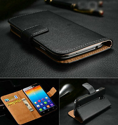 Luxury Genuine Real Leather Flip Wallet Case Cover For Lenovo 820 850 780 K900