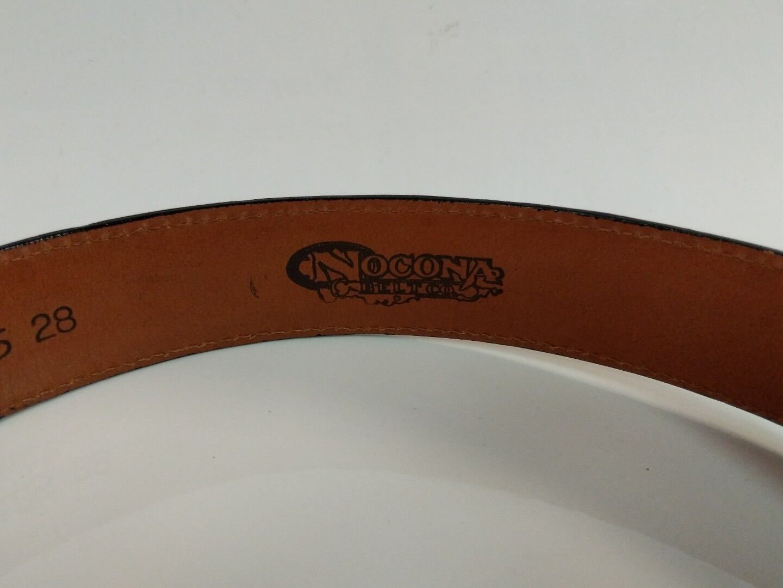 Nocona Genuine Leather Women's belt black/ spotted Size 28
