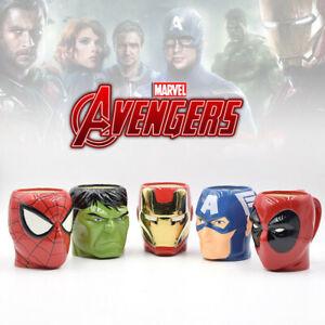 Marvel-Avengers-Ceramic-Mug-Cup-Spiderman-Deadpool-Hulk-Iron-Man-Captain-America