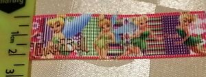 Ribbon-DISNEY-TINKERBELL-fairy-2-5-cm-wide-50cm-lengths-Grosgrain