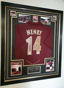 8c156c4e004 Image is loading THIERRY-HENRY-of-Arsenal-Signed-SHIRT-Autographed-Jersey-