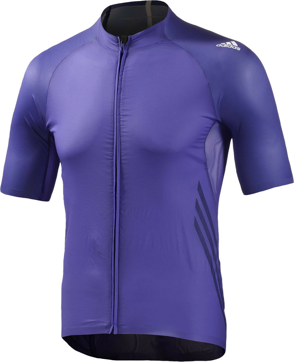 Adidas AdiZero  Short Sleeve Mens Cycling Jersey - Purple  high-quality merchandise and convenient, honest service