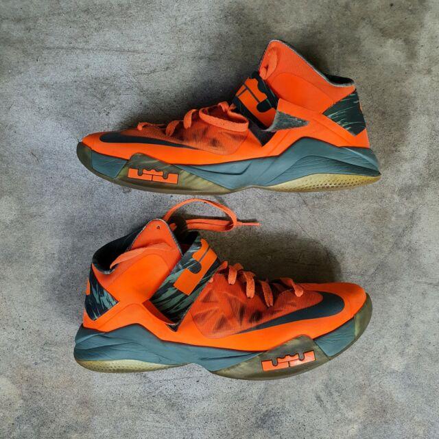 delicadeza Caprichoso Persona a cargo del juego deportivo  Size 12 - Nike LeBron Zoom Soldier 6 Orange for sale online | eBay