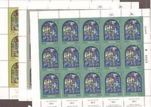 Israel 1973 Chagall Windows Part II Full Sheets Scott Scott 515-520 Bale 564-569
