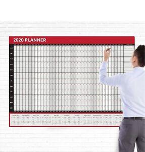 Calendrier Geant.Details Sur 2020 Geant Format A0 Annee Complete Wall Planner Calendrier Maison Bureau Travail Jan Dec Afficher Le Titre D Origine