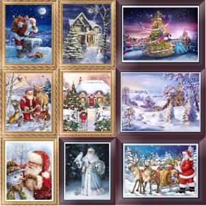 Christmas Series DIY 5D Diamond Embroidery Painting Cross Kits Stitch Hom mmvv