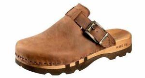 Woody Lukas Men's Clogs Mules Wooden Shoe Leather Braun Size 40-50 | eBay