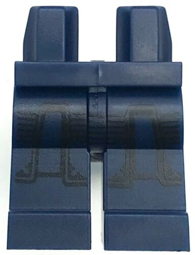 Lego New Dark Blue Hips and Legs with Black Leg Armor Pattern Minifig Pants