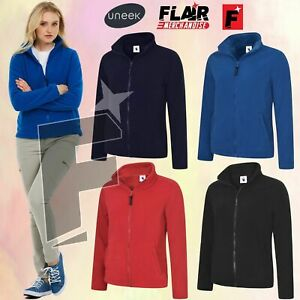 Uneek Ladies Full Fleece Jacket, UC-608 4-Colour (XS-4XL) Work Wear Causal Top