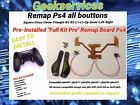 "Pre-Installed""Full Kit Pro"" Remap board Ps4-manette a palettes!Easy Remapper Ps4"