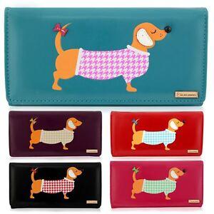 Kukubird ladies large cute dachshund dog cartoon designs purse