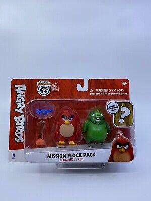 Angry Birds  Explore Jazwares Mission Flock Pack Leonard /& Red Figures Surprise