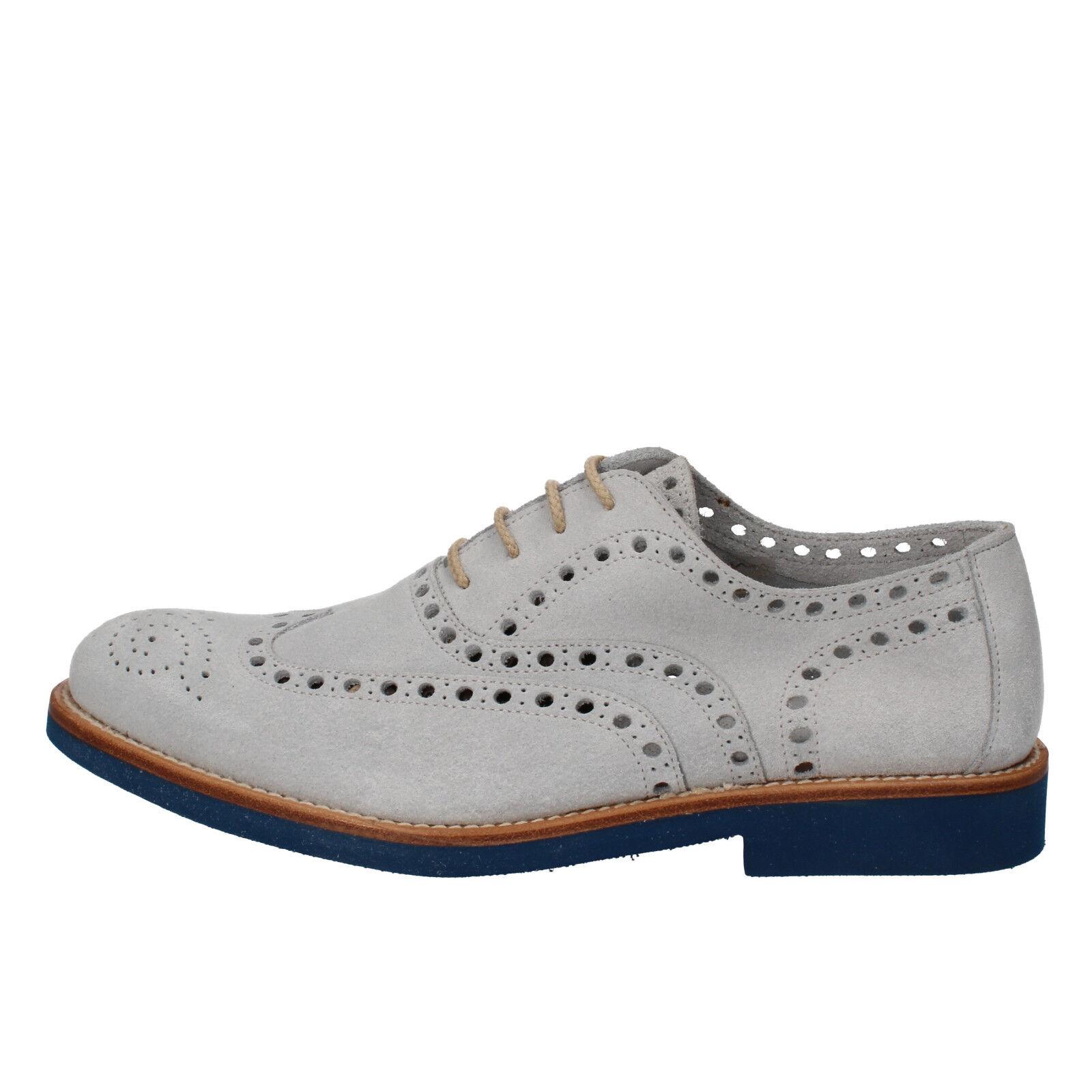 men's shoes DI MELLA 10,5 () elegant gray suede AD237-L