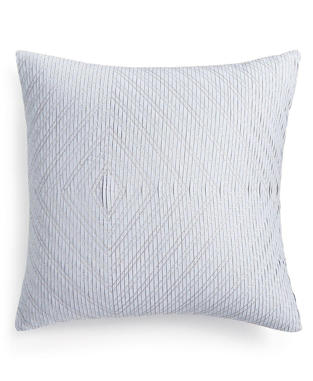 Hotel Collection 20  Square Decorative Pillow Diamond Stripe bluee T94036