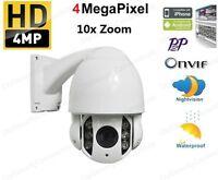 Onvif Hd 4mp 1520p 10x Zoom Ip Ptz Outdoor Ir High Speed Dome Camera