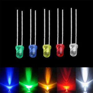 100-Stueck-Superhelle-Leuchtdiode-3mm-5mm-LED-Rund-Dioden-Rot-Gruen-Blau-Gelb-Weiss